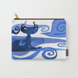 A spirally Cat  Carry-All Pouch