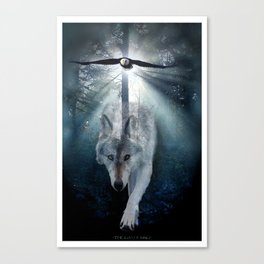 The Gathering - Wolf and Eagle Canvas Print