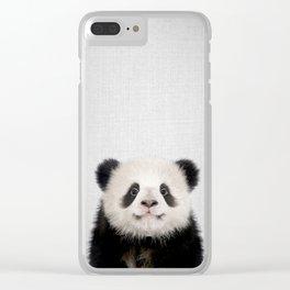 Panda Bear - Colorful Clear iPhone Case