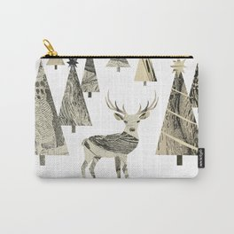 Winter Woods, collage Carry-All Pouch