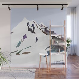 Mountains In The Cold Design Wall Mural