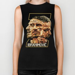 Zlatan Ibrahimovic (Four Faces) - Exposure Biker Tank