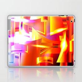 Golden Angelic Armor (Geometric Abstract Digital Art) #08 Laptop & iPad Skin
