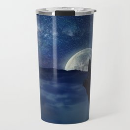 lonely wolf Travel Mug