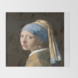 Girl with a Pearl Earring (1665), Old Masters Collection Throw Blanket