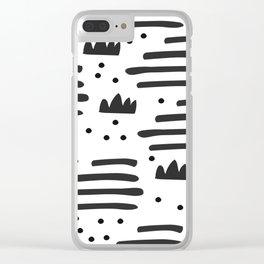 Abstract scandinavian art Clear iPhone Case