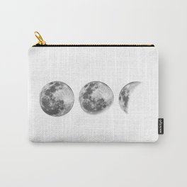 Full Moon cycle black-white photography print new lunar eclipse poster bedroom home wall decor Carry-All Pouch