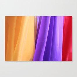 Bright colored Fabric  Canvas Print