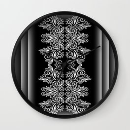 Abstract floral background Wall Clock
