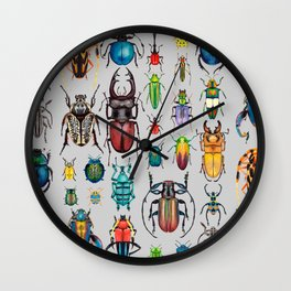 Beetle Collection Wall Clock
