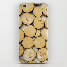 Chopped Timber Log Abstract iPhone Skin