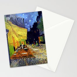 Cafe Terrace at Night Stationery Cards