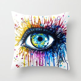 """Rainbow Eye"" Throw Pillow"