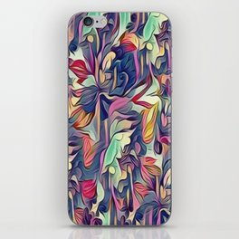 Midnight Floral Abstract iPhone Skin