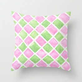 Pastel squares Throw Pillow