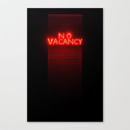 No Vacancy sign in red Canvas Print