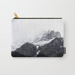 Moody snow capped Mountain Peaks - Nature Photography Carry-All Pouch