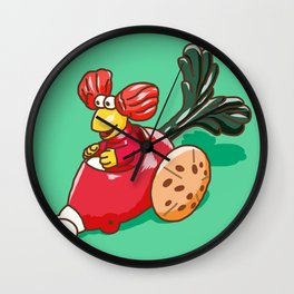 Fraggle Rock 1987 Happy Meal Toy Red Raddish Wall Clock
