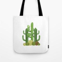 Desert Vacay Three Cacti Tote Bag