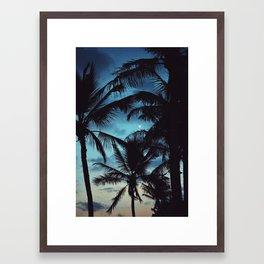 Honolulu Moon Framed Art Print