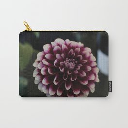 Purple and White Carry-All Pouch