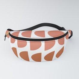 Terracotta and Blush Shapes Fanny Pack