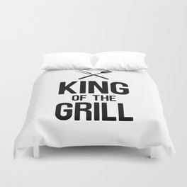 King Of The Grill Duvet Cover