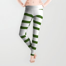 Simply Drawn Stripes in Jungle Green Leggings