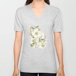 Georgia in Flowers Unisex V-Neck
