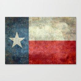 Texas State Flag, Retro Style Canvas Print