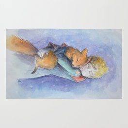 The little Prince and the fox Rug
