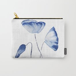 indigo poppy watercolor Carry-All Pouch