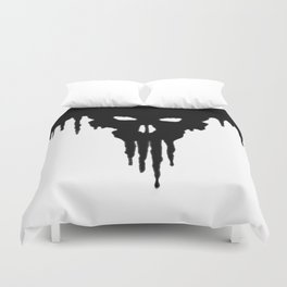 Dissolved Black Skull Duvet Cover