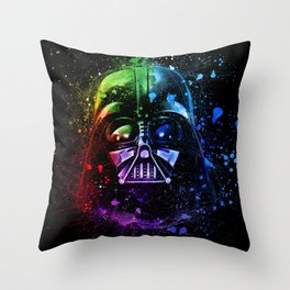 Darth Vader Helmet StarWars Art - Digital Splash Painting Throw Pillow