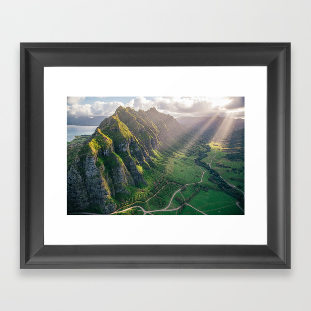 Jurassic Park Rays Framed Art Print by Andystenz FRM8563781