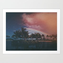 Vintage Hawaii Morning Art Print