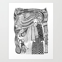 Young Lady Art Print