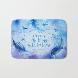 Hope is the thing with feathers Bath Mat