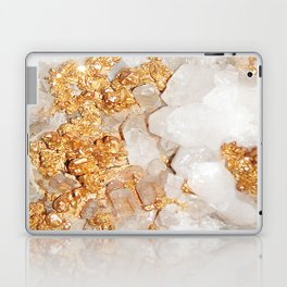 White and Rose Gold Crystal Laptop & iPad Skin