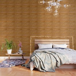 Barn Wall Made of Old Wooden Planks - Brown Wallpaper