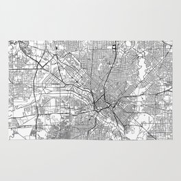 Dallas White Map Rug