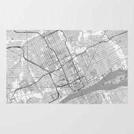 Detroit Map Line Rug