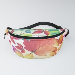 Watercolor Autumn Leaves Fanny Pack