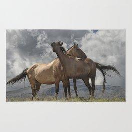 Montana Horses near Glacier National Park Rug