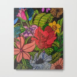 FLOWER JUNGLE Metal Print