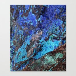 Malachite Mineral Stone rustic decor Canvas Print