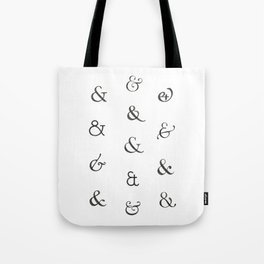 Ampersands Tote Bag