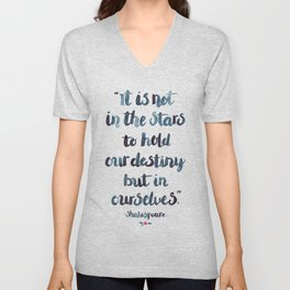 Shakespeare Quote Unisex V-Neck