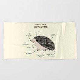Anatomy of a Hedgehog Beach Towel