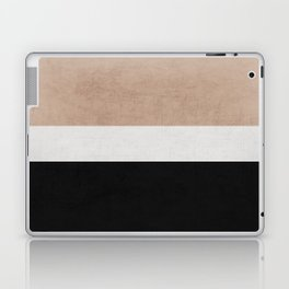 classic - natural, cream and black Laptop & iPad Skin